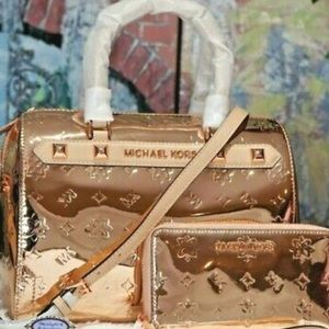 NWT KAROT GOLD MK handbag with wallet set